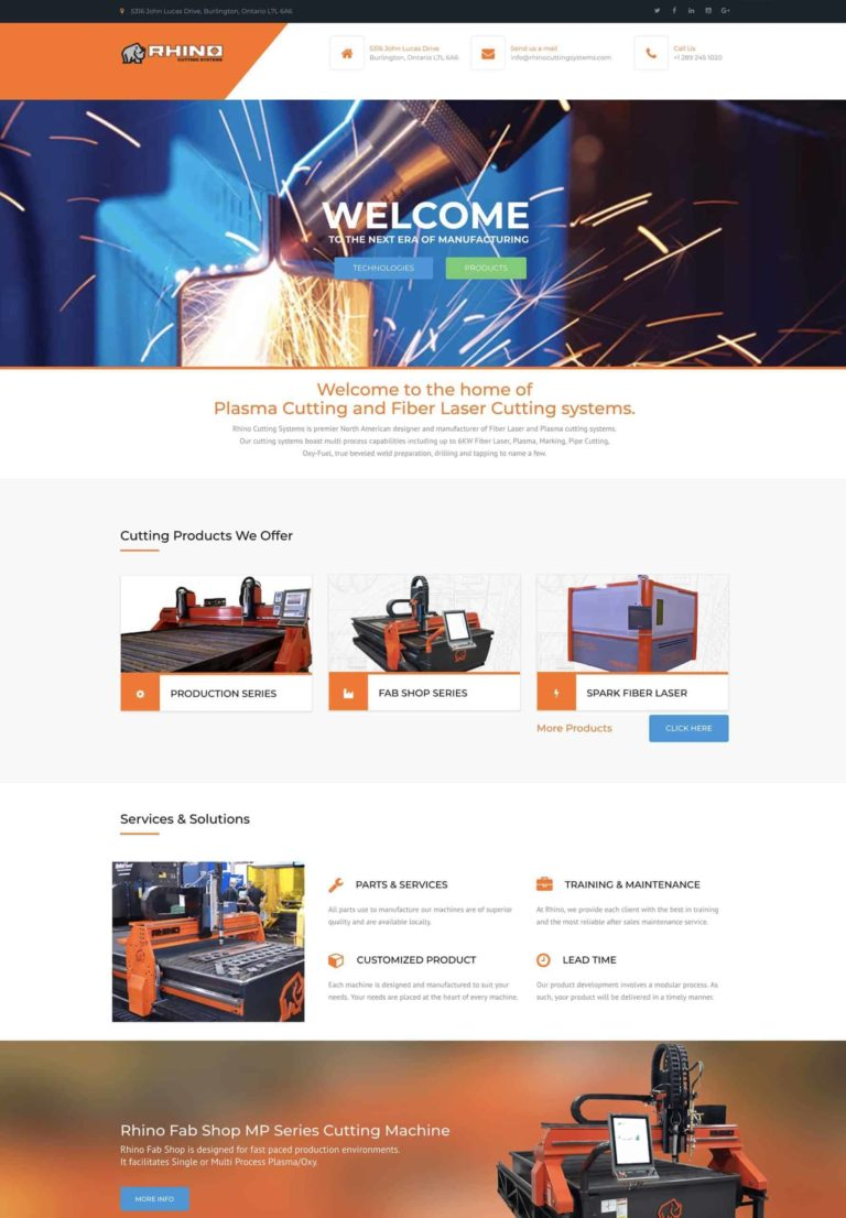 Try Next Step Rhino Cutting Systems Webshot