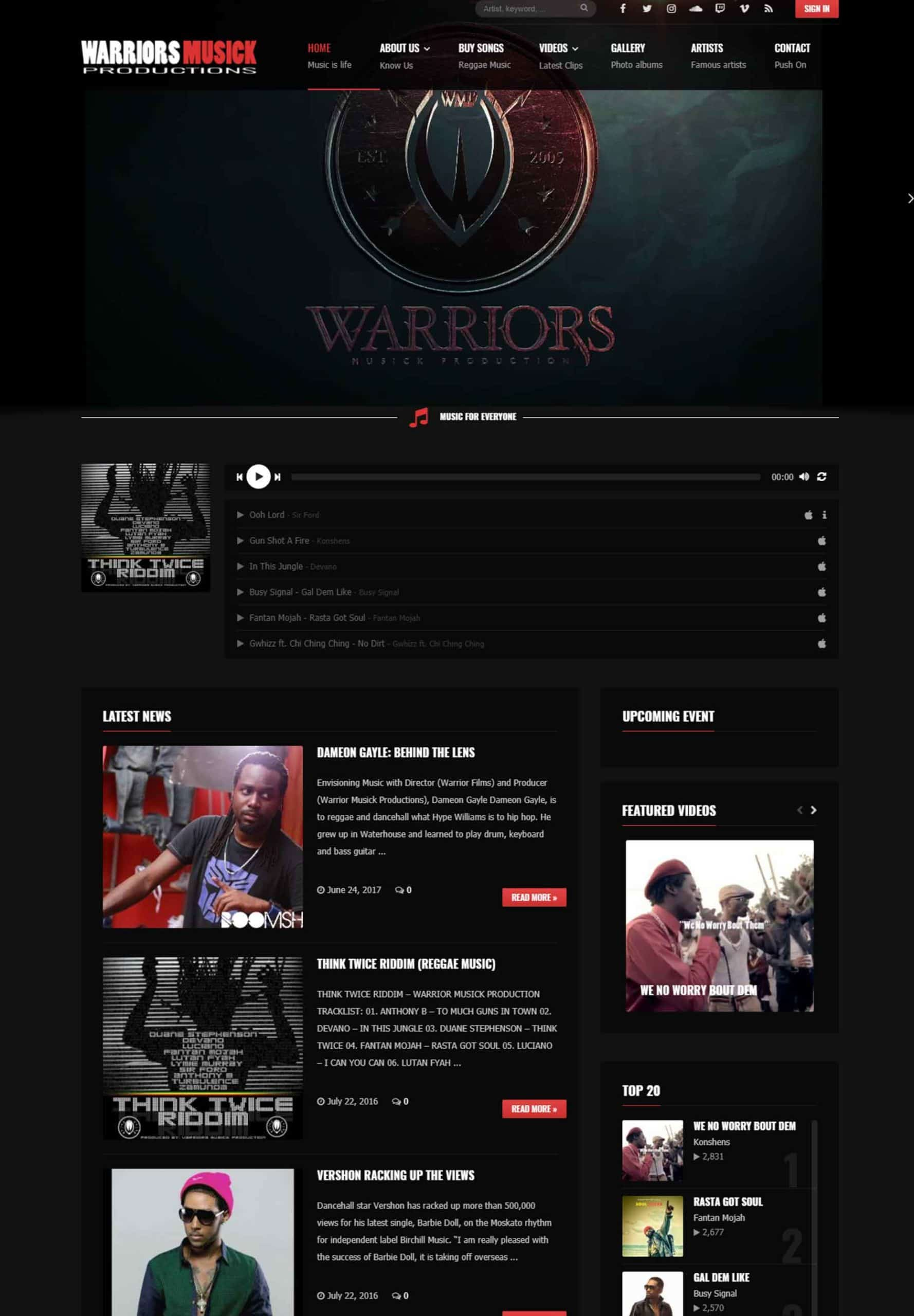 Try Next Step Warriors Musick Productions Webshot