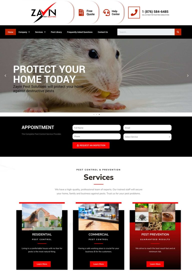Try Next Step Zayin Pest Solutions Webshot Image