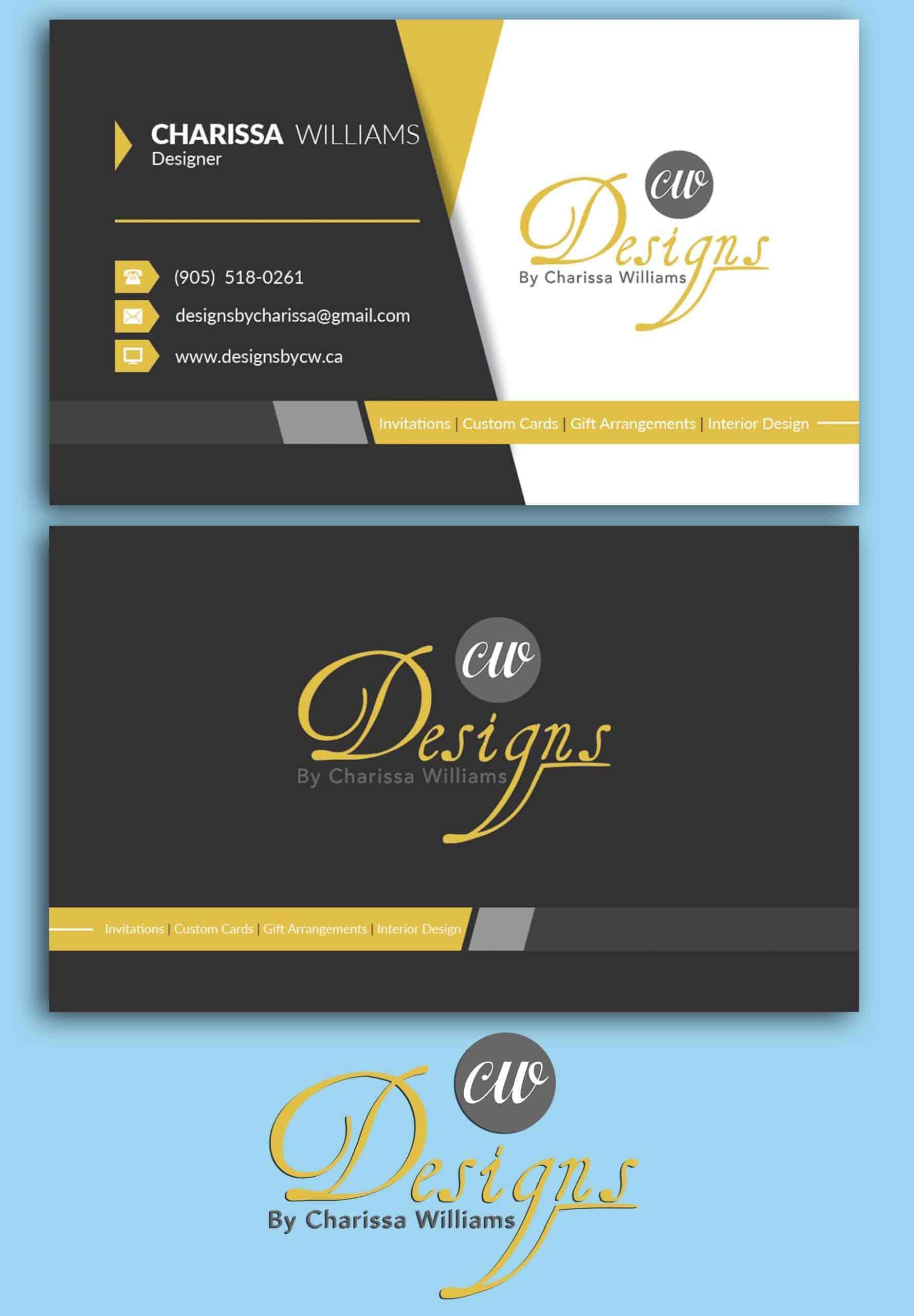 Next Step Digital Solutions DesignByCW2 Logo Business Cards